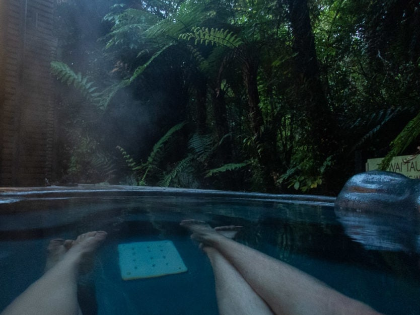 Relaxing in a private pool at the franz josef glacier hot pools a peaceful new zealand spa