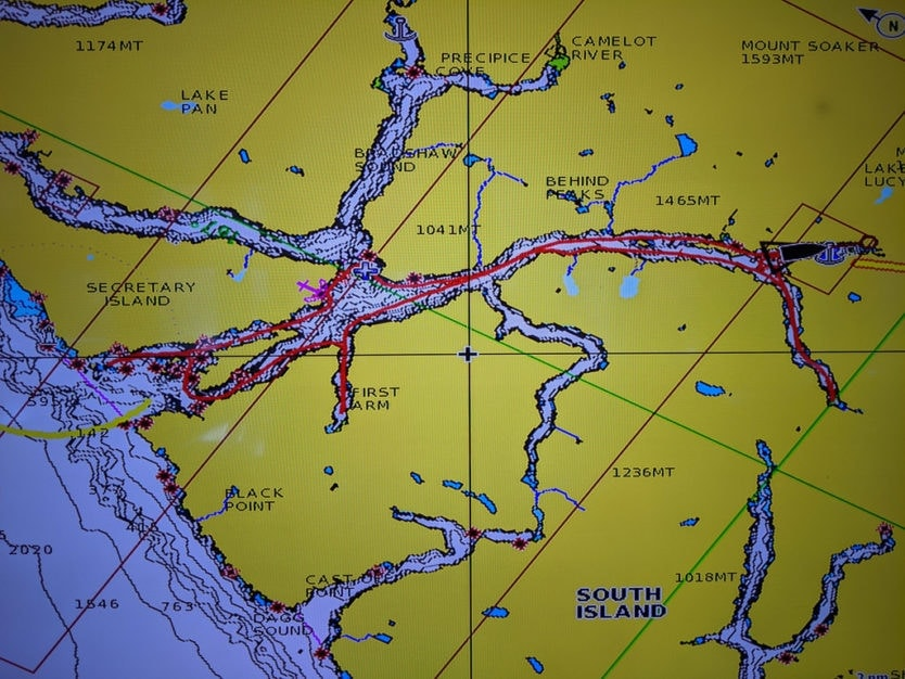 real journeys doubtful sound overnight cruise route