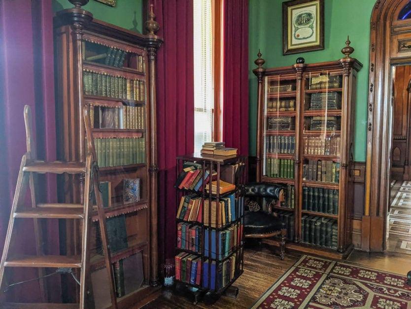 library in larnach castle in dunedin