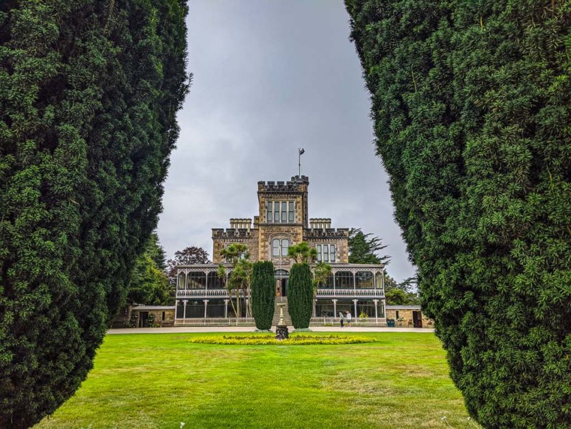 larnach castle in dunedin with gardens