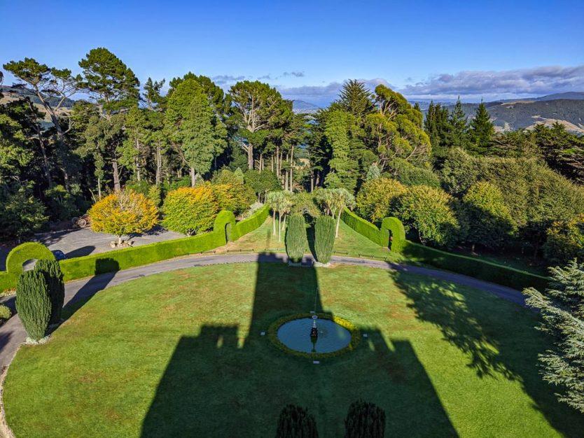 larnach castle in dunedin with gardens