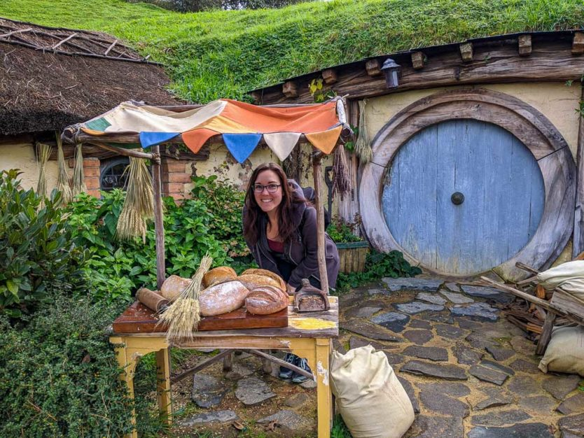 visiting hobbiton in new zealand - photo opps