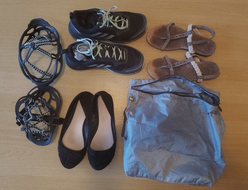 shoes for minimalist packing