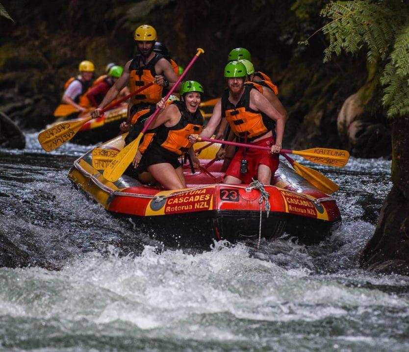 rotorua rafting adventure with kaituna cascades