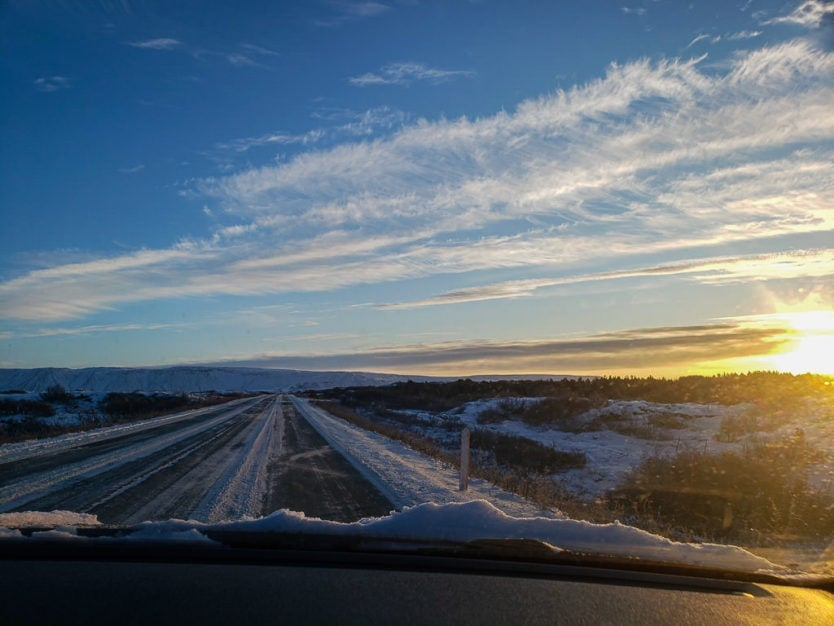 iceland in winter driving
