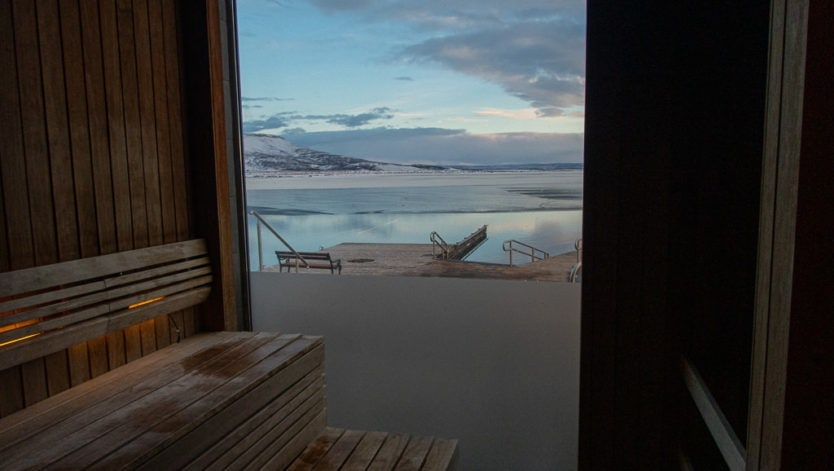 sauna view at laugarvatn fontana
