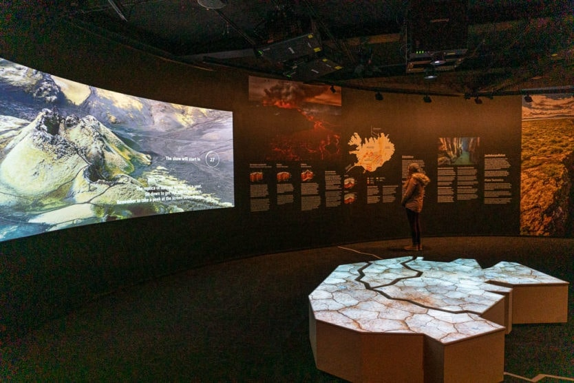 Forces of Nature exhibition in Iceland's Perlan museum