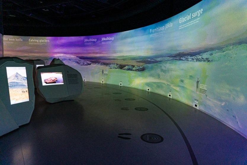 Interactive Glacier exhibition in the perlan museum