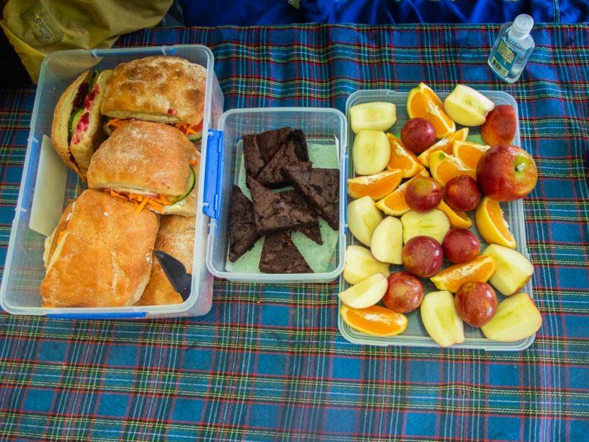 lunch provided by abel tasman kayaks on our Remote Coast Kayaking Tour on Onetahuti Bay