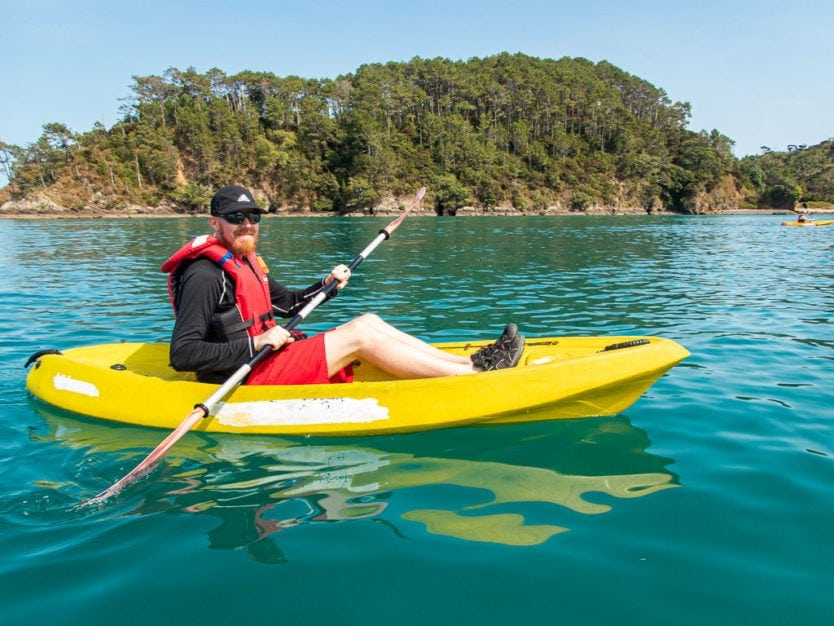 kayaking bay of islands explorations on rock the boat