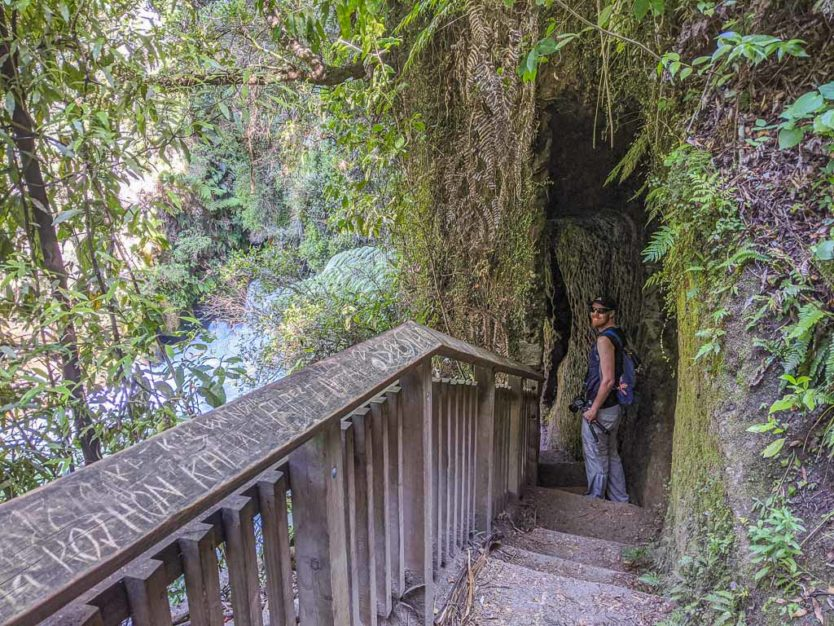 okere falls trail near rotorua