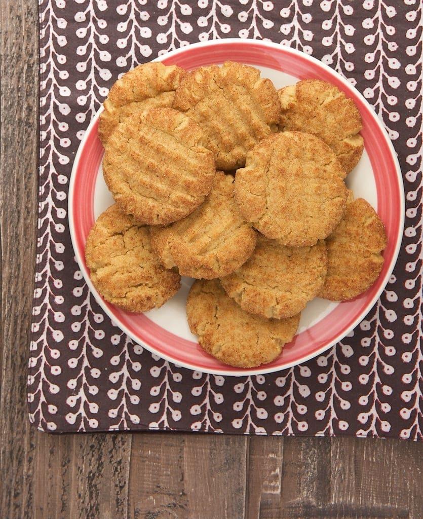 Peanut butter cookies + cinnamon-sugar = Peanut Butter Snickerdoodles