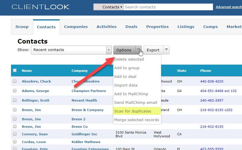 Merge Duplicate Records In ClientLook_1