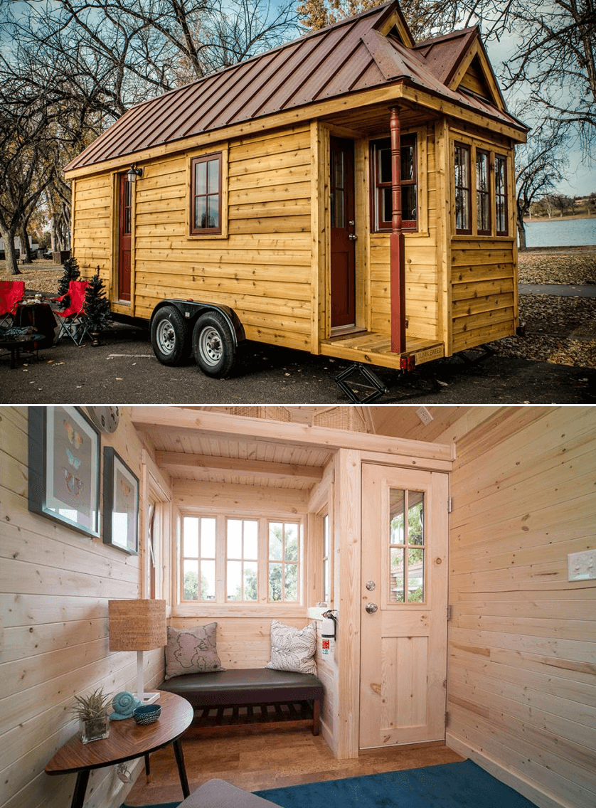Tumbleweed Tiny House on Wheels design ideas Cypress 2 Bedroom