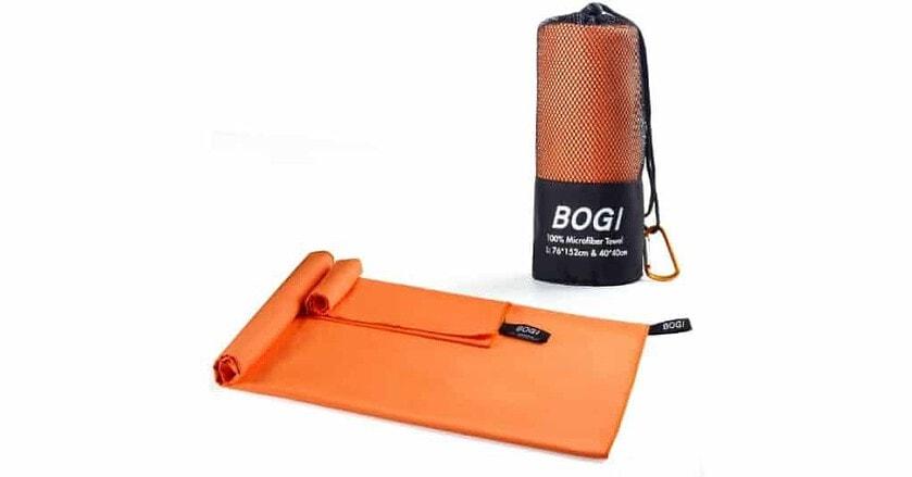 BOGI Microfiber open and at back