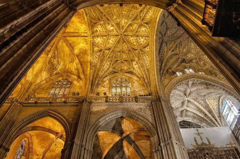 The roof of Seville Cathedral