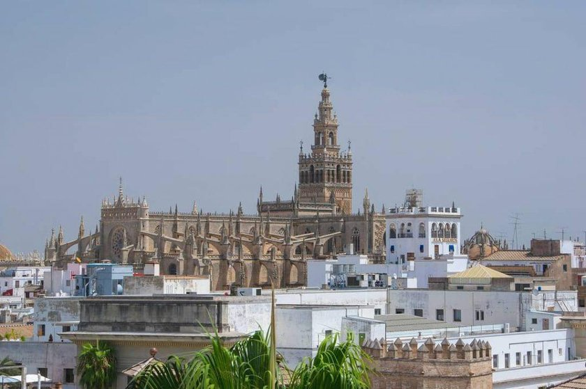 Seville cathedral from a distance