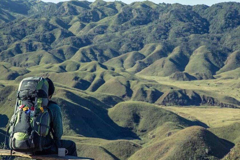 hiking man