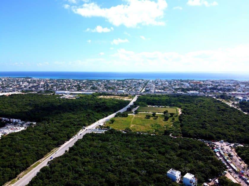 Playa del Carmen México - Vista al centro de ciudad y al mar