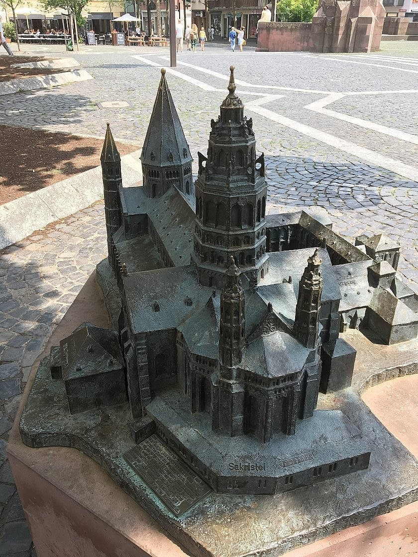 Model des Mainzer Dom