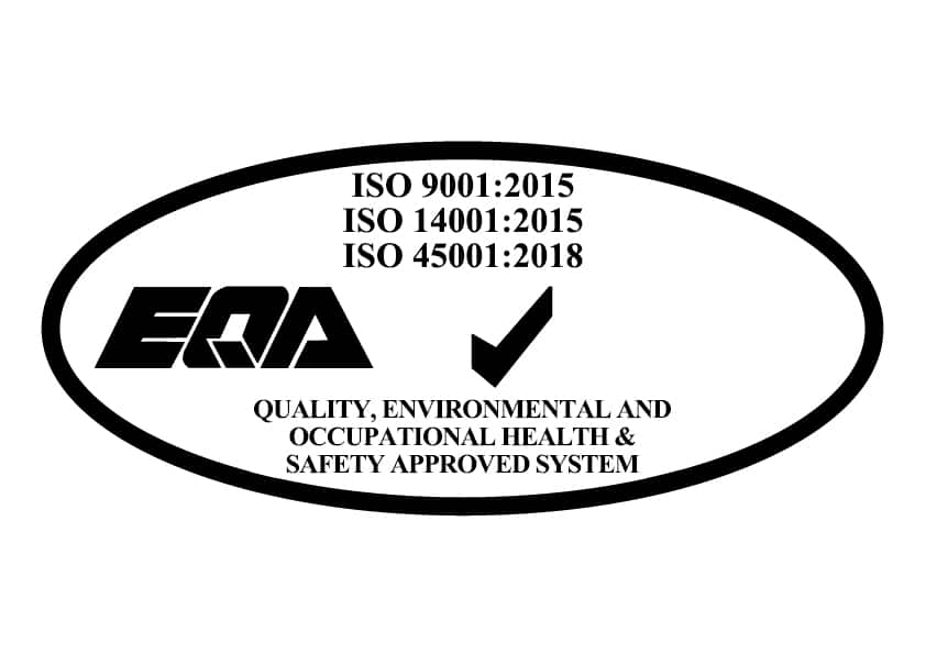 EQA Ireland certify Sirus to ISO 9001:2015, ISO 14001:2015 and ISO 45001:2018 standards - Quality, Environmental and Occupational Health & Safety Approved System