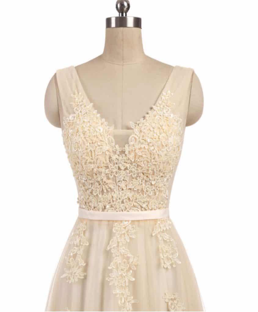 AliExpress Cheap Designer Wedding Dresses Bridal Gown Elegant champagne wedding dress 1