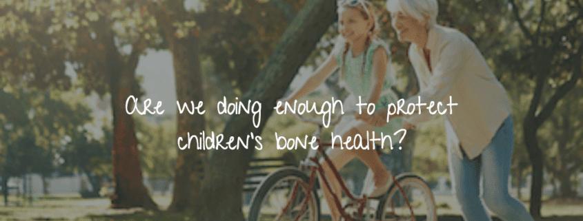 grandmother protecting children's bone health