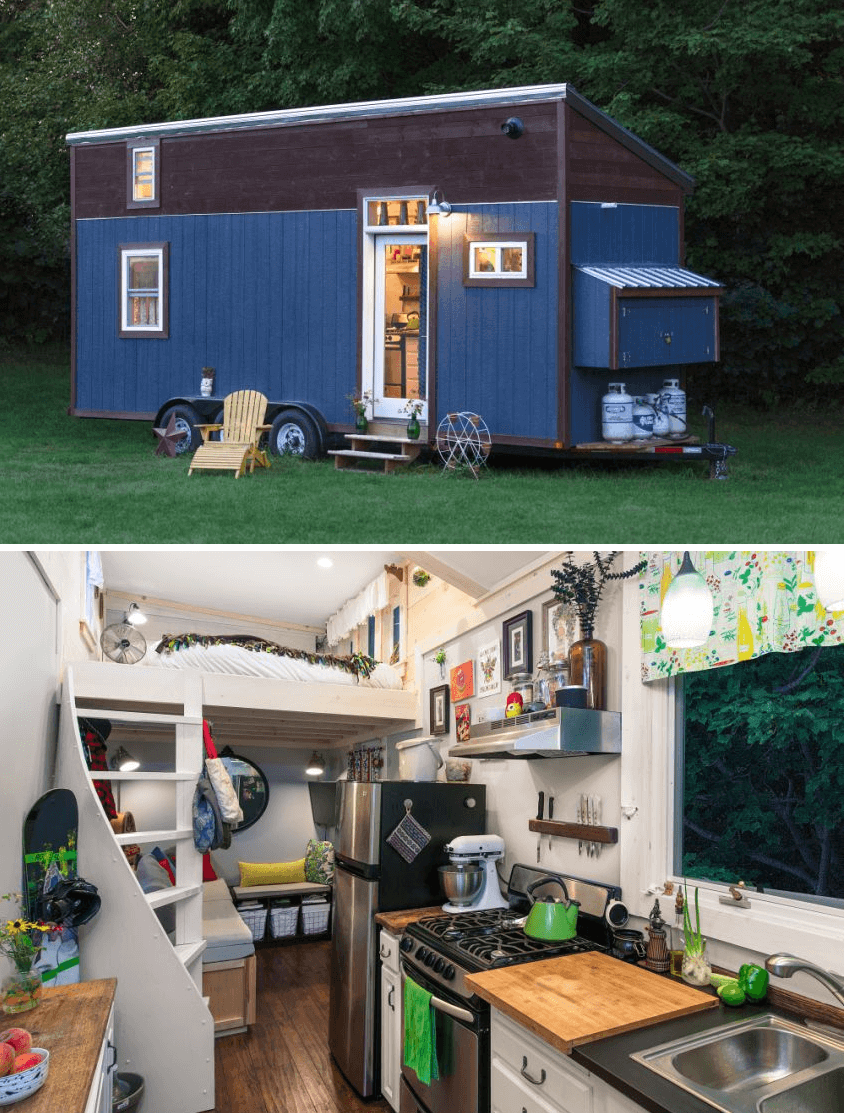 Little Lou tiny house on wheels design ideas