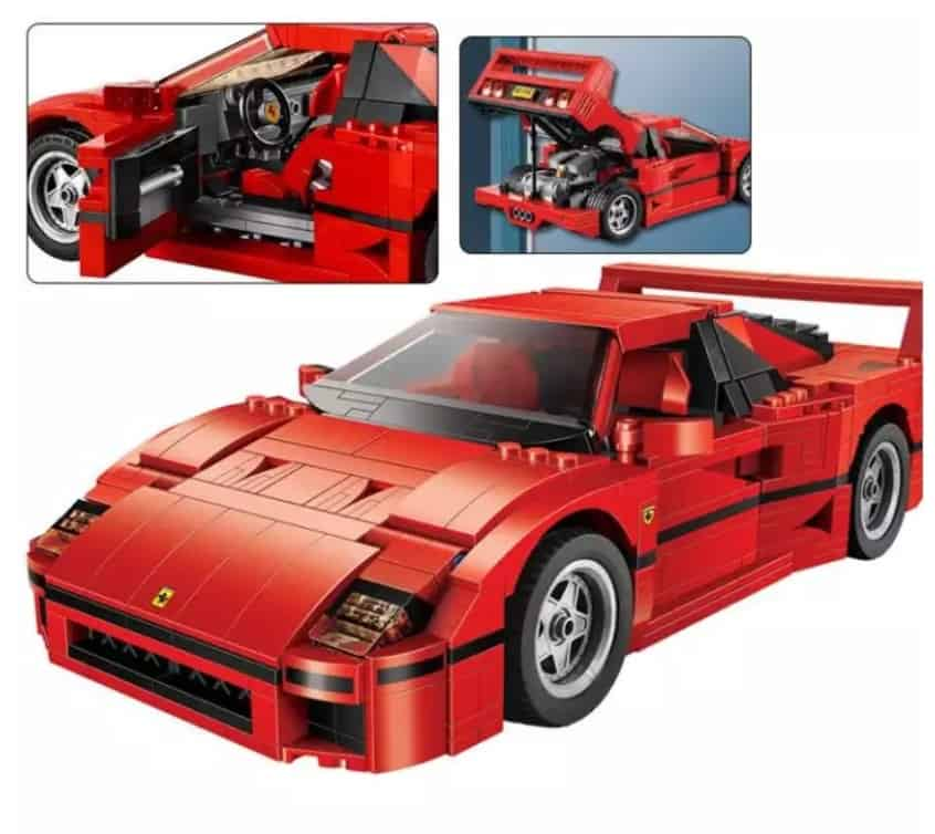 AliExpress Lego Replica Lego Alternative Lego Clone AliExpress Fun Toy Kingdom Model Building Blocks Compatible with legoings F40 21004 Sport Car 10248 Figure Educational Toys for Children Gift for Boy Girl