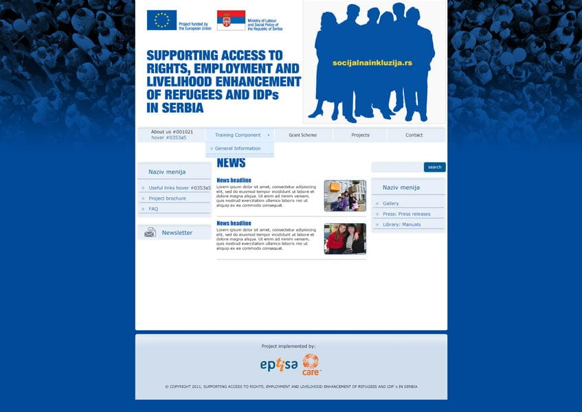 Supporting Access to Rights, Employment and Livelihood Enhancement of Refugees and IDPs in Serbia