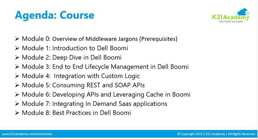 Dellboomi Course Agenda