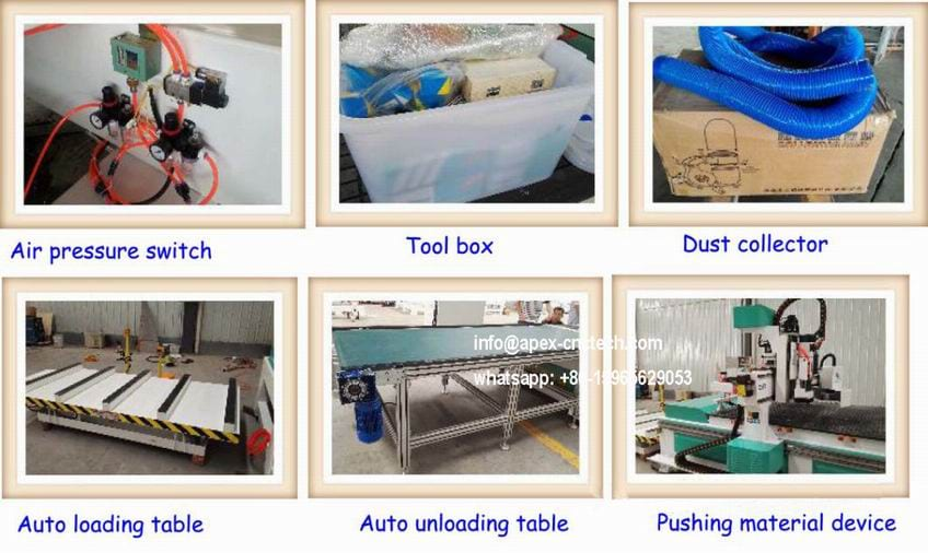 Zk Competitive Price Auto-Loading-Unloading-Table-Wood-Carving-Machine