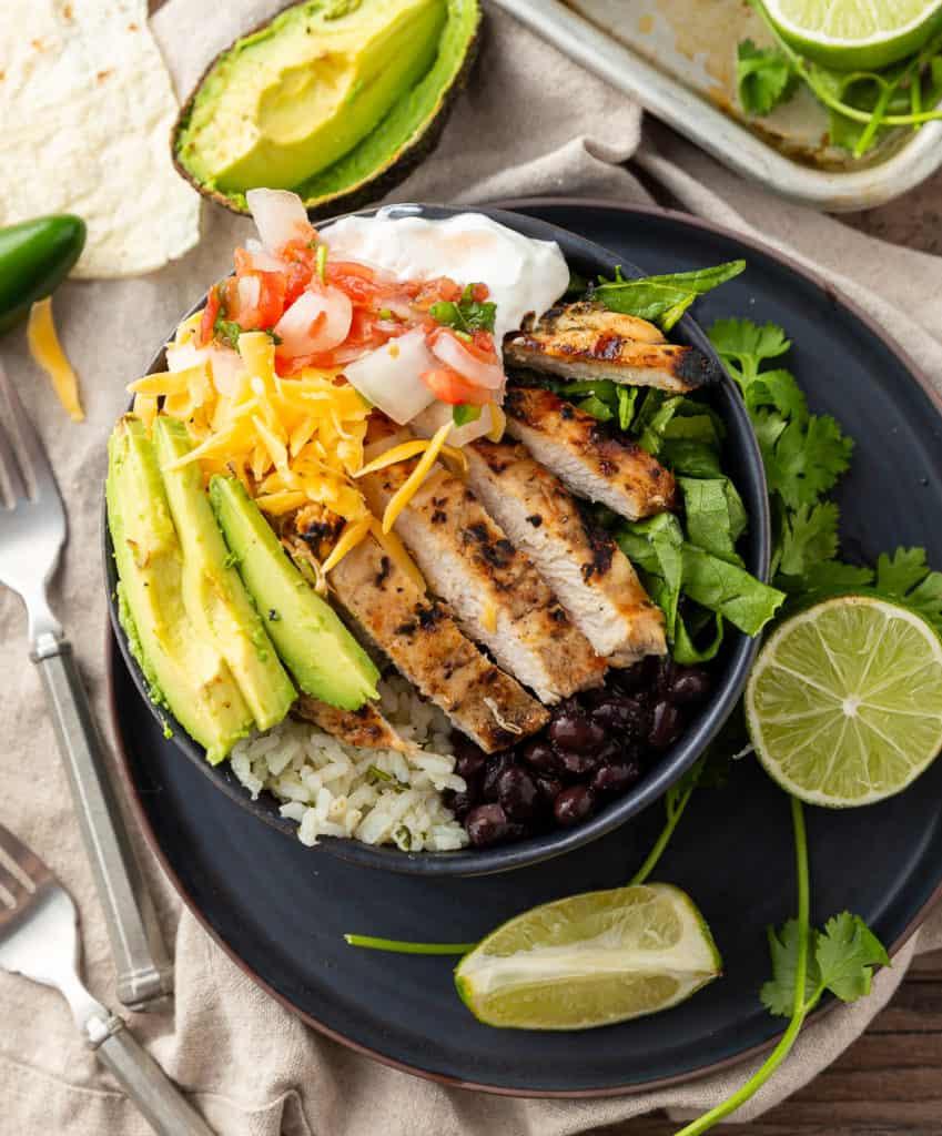 Chicken and Rice Burrito Bowl
