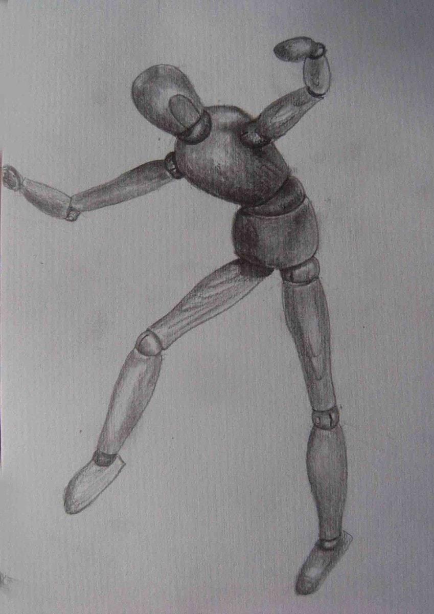 dibujo de un maniquí para modelar