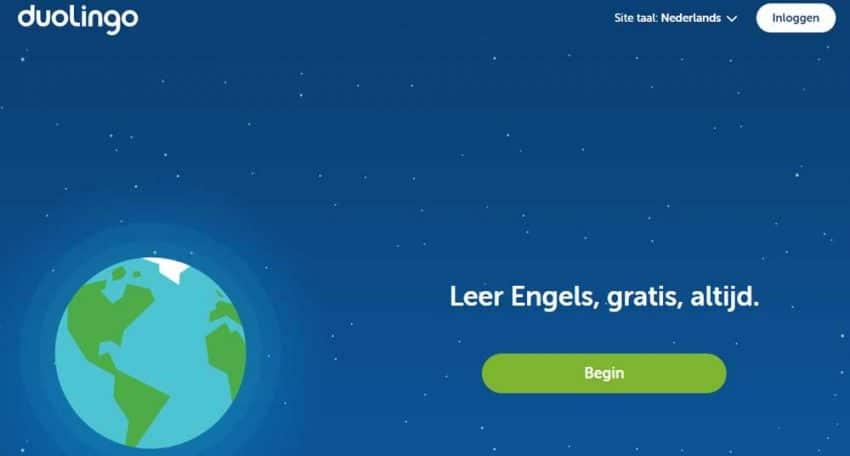Met de DuoLingo app leer je gratis Engels, Frans of Duits.