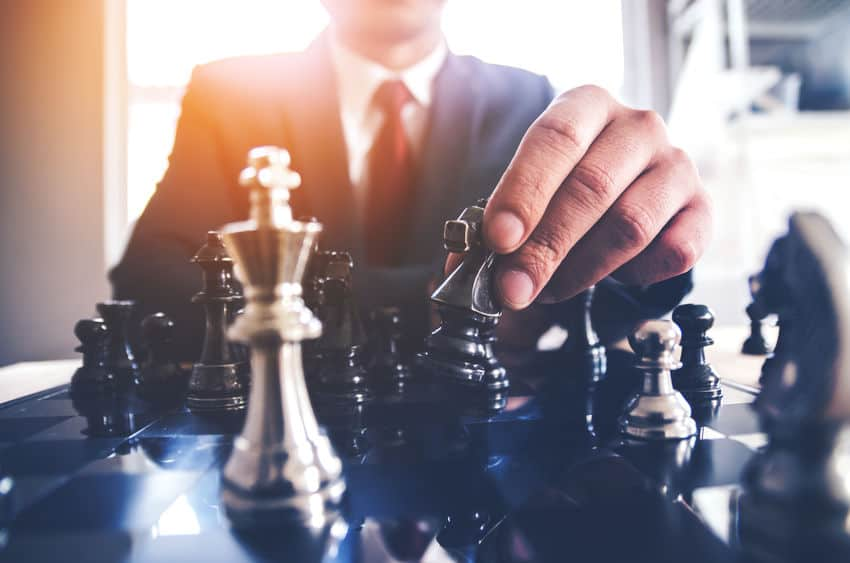 leadership in a game of chess