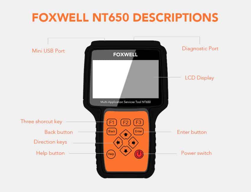 foxwell nt650 descriptions