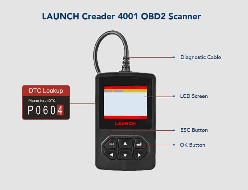 Launch Creader 4001 OBD2 Scanner