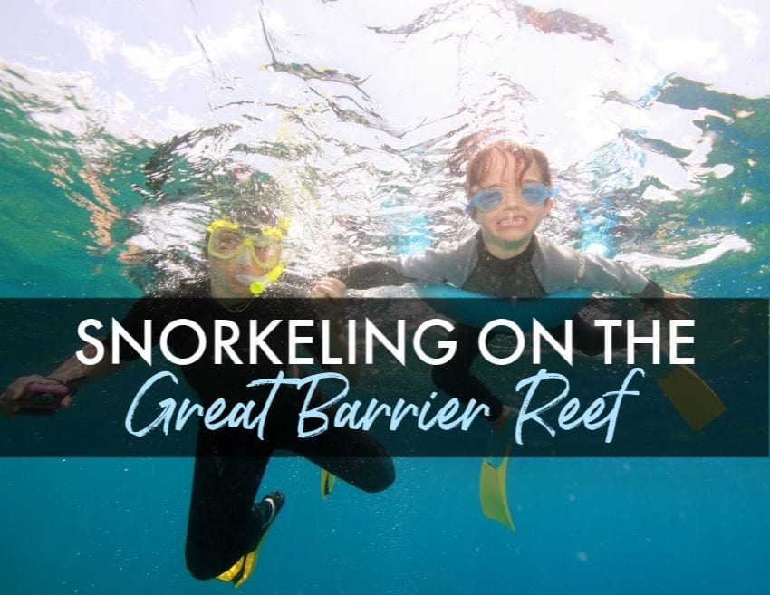 Snorkeling on the great Barrier Reef