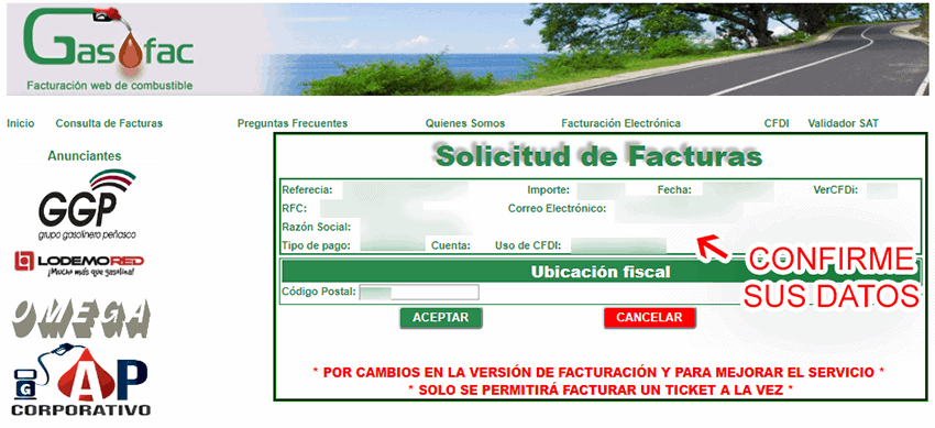 GASOFAC GASOLINERAS FACTURACION 3