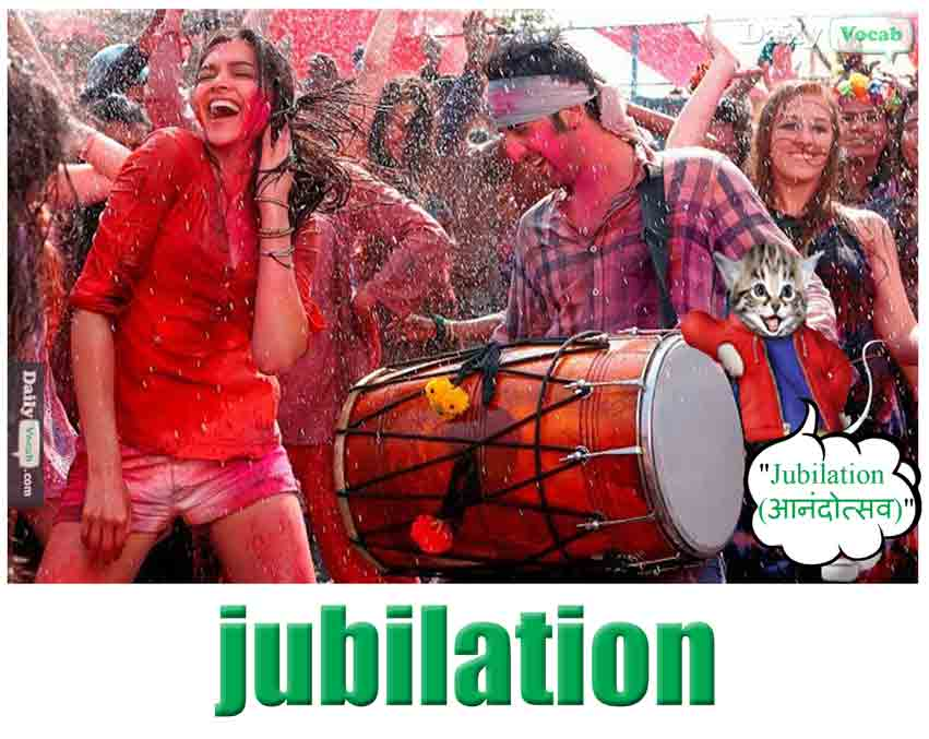 jubilation English Hindi meaning
