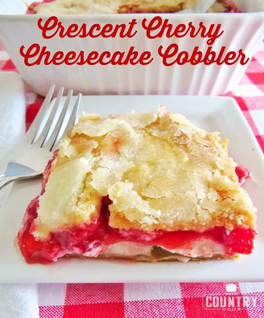 Crescent Cherry Cheesecake Cobbler recipe