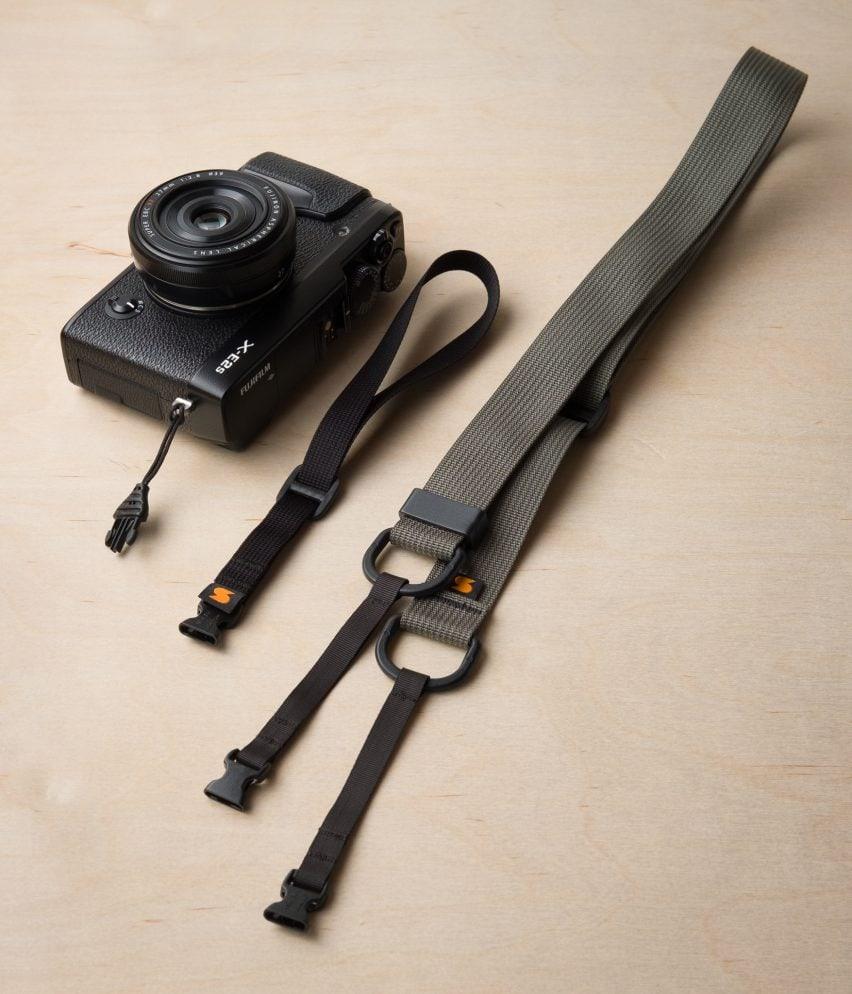 M1シリーズクイックリリースミラーレスカメラストラップの首とリストストラップ