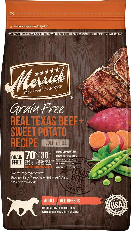 Merrick Real Texas Beef & Sweet Potato Recipe