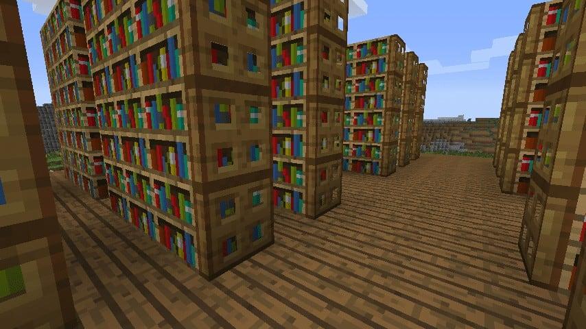Bookshelf Library Minecraft ideas Interior