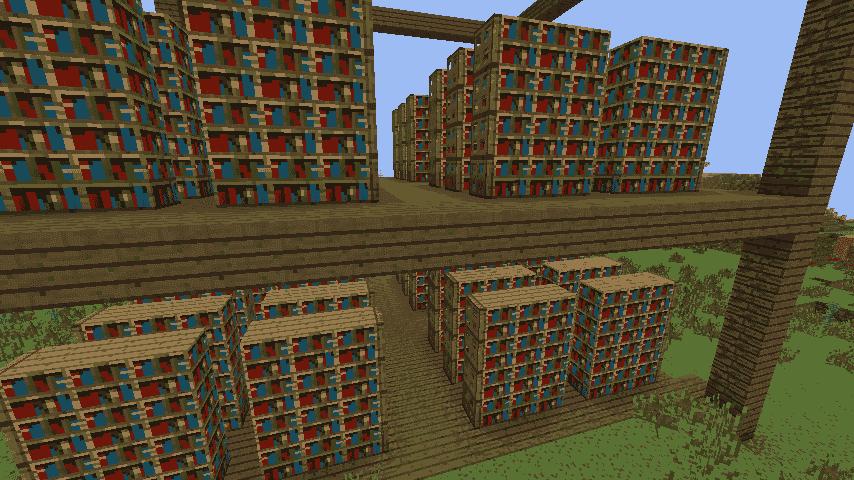 Bookshelf Library Minecraft ideas Interior 2
