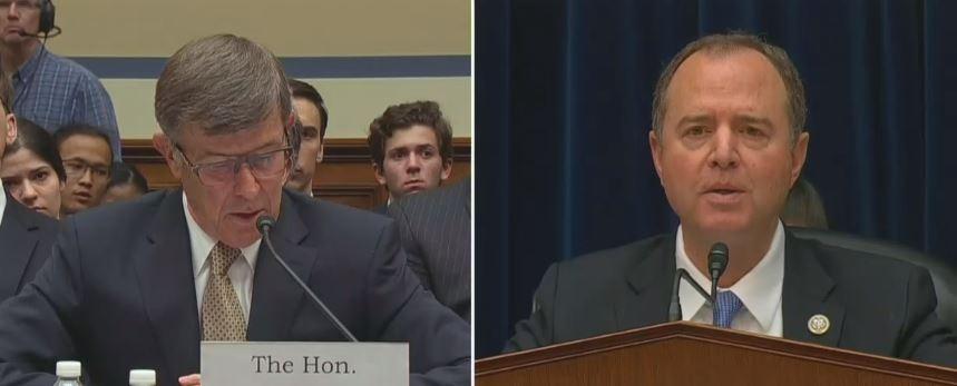 Schiff gets Mcguire to debunk Trump whistleblower attack
