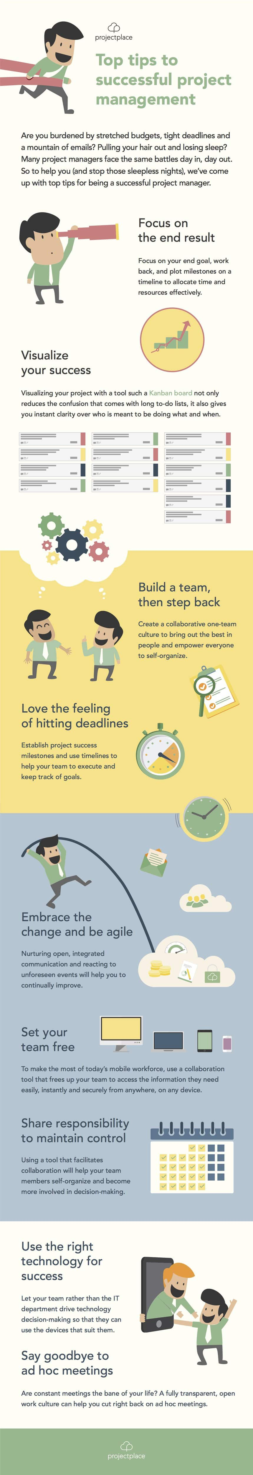 Top tips success infographic
