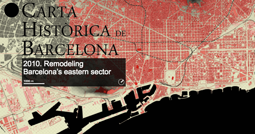 Interactive history of barcelona