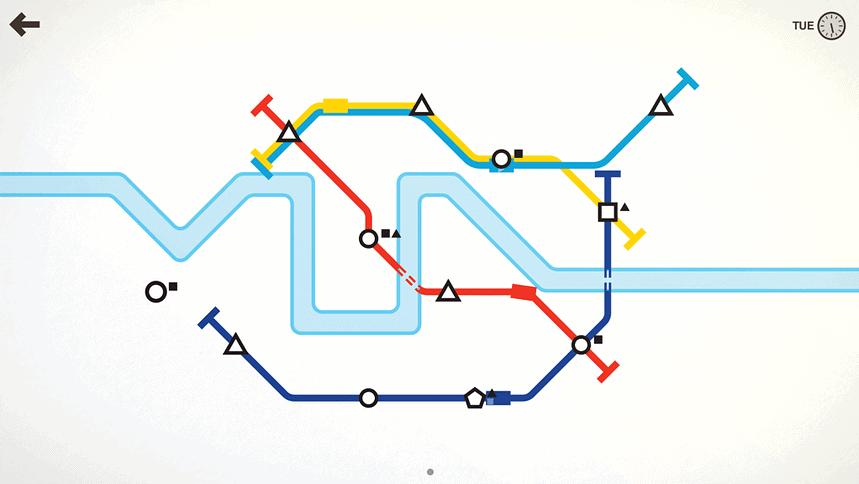 De bedoeling van Mini Metro is simpel: maak een metrosysteem dat werkt.